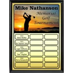 Golf Theme Full-Color Perpetual Plaque