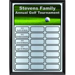 Golf Theme Full-Color Perpetual Plaque