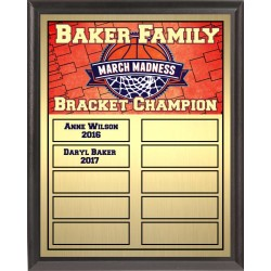 Basketball Theme Full-Color Perpetual Plaque