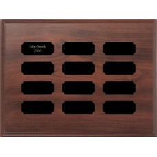 Add-On Perpetual Plaque with 12 Plates, 9 x 12