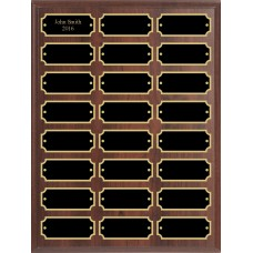 Add-On Perpetual Plaque with 24 Plates, 9 x 12
