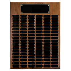 102 plate Genuine Walnut Completed Perpetual Plaque