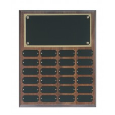 24 Plate Genuine Walnut Completed Perpetual Plaque