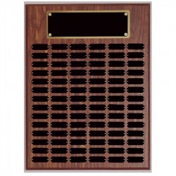 72 plate Genuine Walnut Completed Perpetual Plaque
