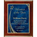 Rosewood Piano Finish Premium Plaque with Rising Star Designer Plaque Plate