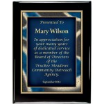 Glossy Black Piano Finish Premium Plaque with Artist Designer Plaque Plate