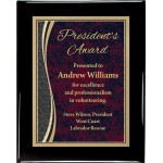 Glossy Black Piano Finish Premium Plaque with Patina Designer Plaque Plate