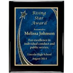 Glossy Black Piano Finish Premium Plaque with Rising Star Designer Plaque Plate