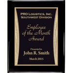 Glossy Black Piano Finish Premium Plaque with Showtime Designer Plaque Plate