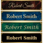 "2"" x 8"" Desk Sign with Engraved Metal Insert"