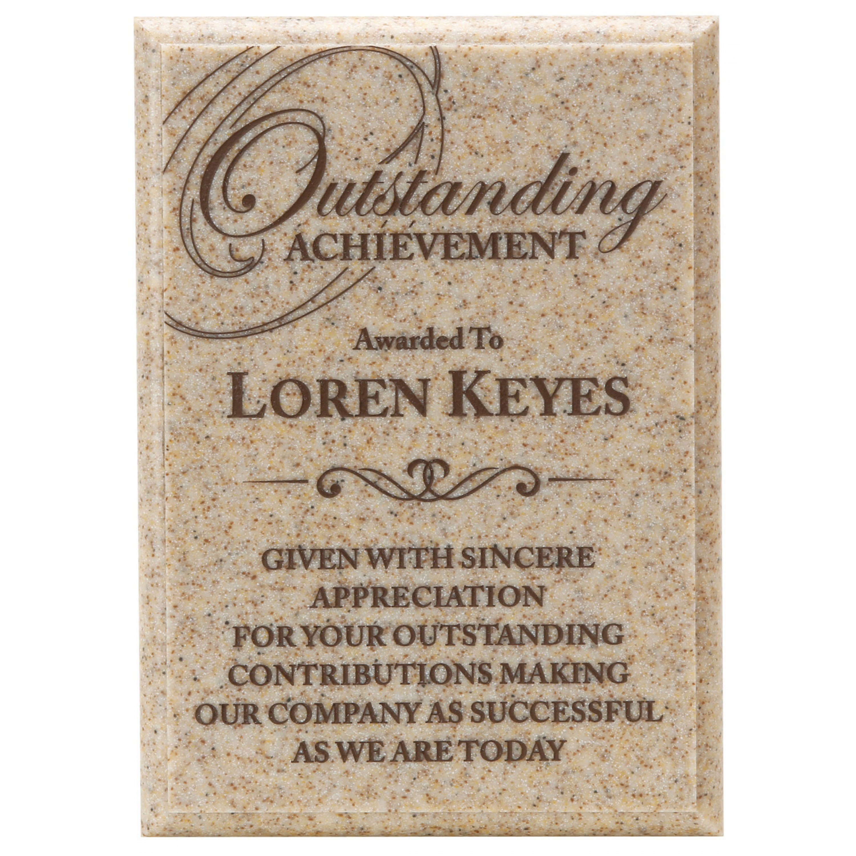 Engraved Granite and Acrylic Plaques (2)