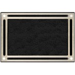 Silver cast aluminum wall-mount plaque