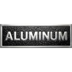 Cast aluminum plaque, rectangular