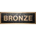 Cast bronze plaque, rectangular