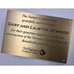"""Etched bronze plaque, 1/16"""""""