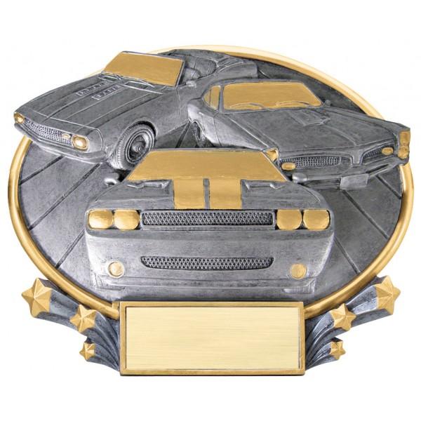 Oval Car Show Resin Award
