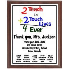 """2+2"" Teacher Plaque"