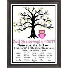 """""""Hoot"""" Teacher Plaque"""
