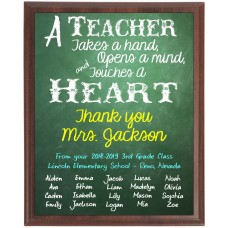 Chalkboard Teacher Plaque