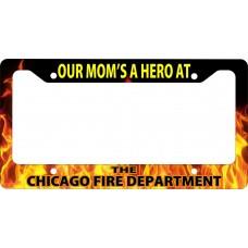 Firefighter Hero Dad Mom License Plate Frame