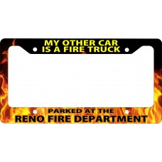 """Firefighter """"My Other Car"""" License Plate Frame"""