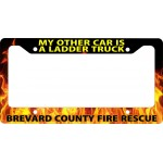 "Firefighter ""My Other Car"" License Plate Frame"
