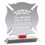 Crystal Maltese Cross Firefighter Award