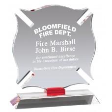 Crystal Maltese Cross Firefighter Award