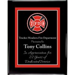 Premium Hardwood Fire Department Plaque