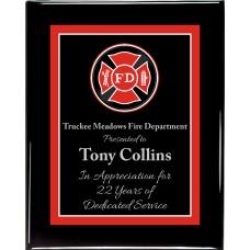 Premium Hardwood Fire Department Plaque