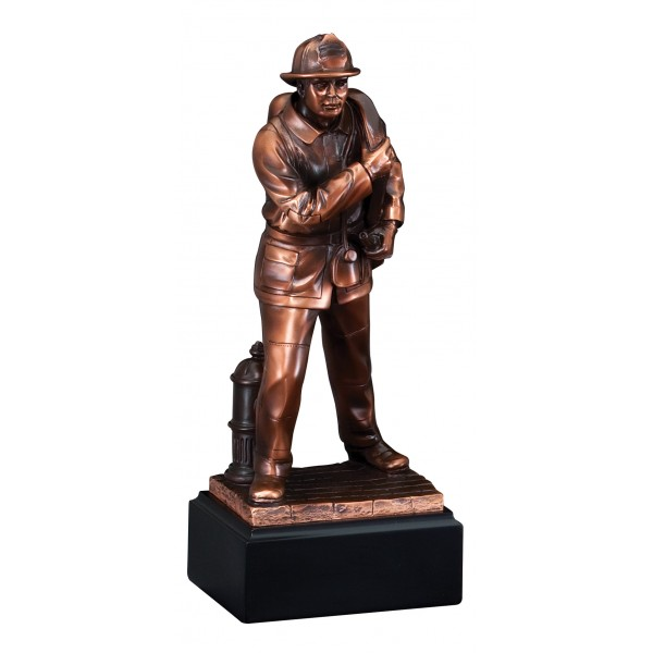 Fireman with Hose Resin Award