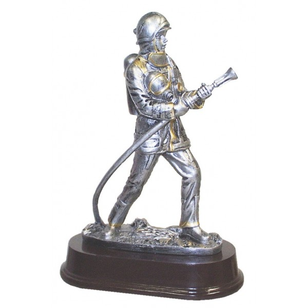 Fireman With Oxygen Tank Resin Award