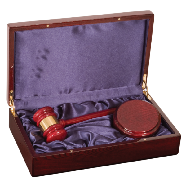 Rosewood Piano Finish Directors Gavel Set