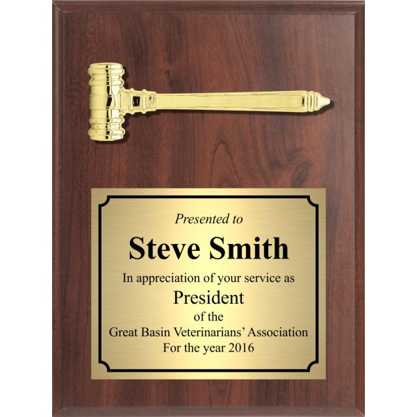 Economy Gavel Plaque, Portrait