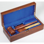 Gavel In Glossy Walnut Presentation Box