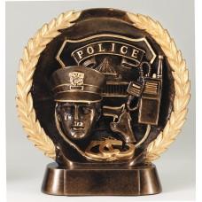 Antique Gold Wreath Police Resin Award