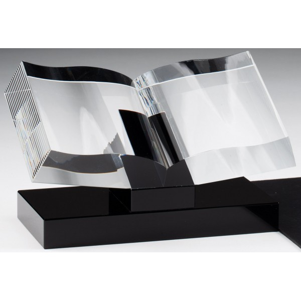 Crystal Book with Black Crystal Base
