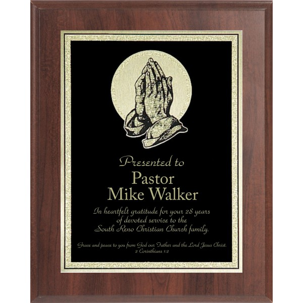 Economy Praying Hands Plaque