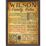 "Bible ""Family Rules"" Wall Plaque"