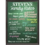 "Christian ""Family Rules"" Wall Plaque"