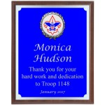 Engraved Blue And Silver Boy Scout Plaque BSP3
