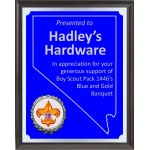 Nevada Theme Blue And Silver Boy Scout Plaque BSP4NV