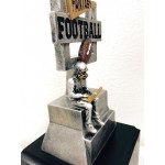 Goal Post Stats Guy Fantasy Football Trophy on Cube Base