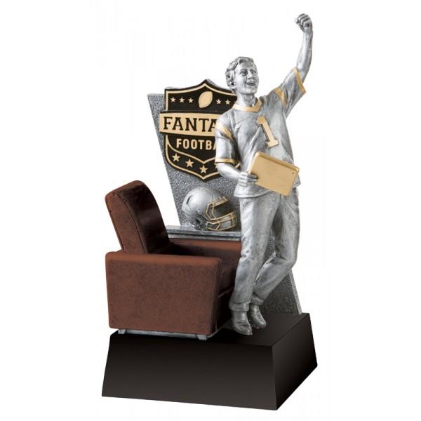Arm Chair Fist Pump Fantasy Football Trophy