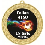Custom Insert Medal, Gold - your graphics and text!
