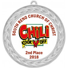 Custom Insert Medal, Silver - your graphics and text!