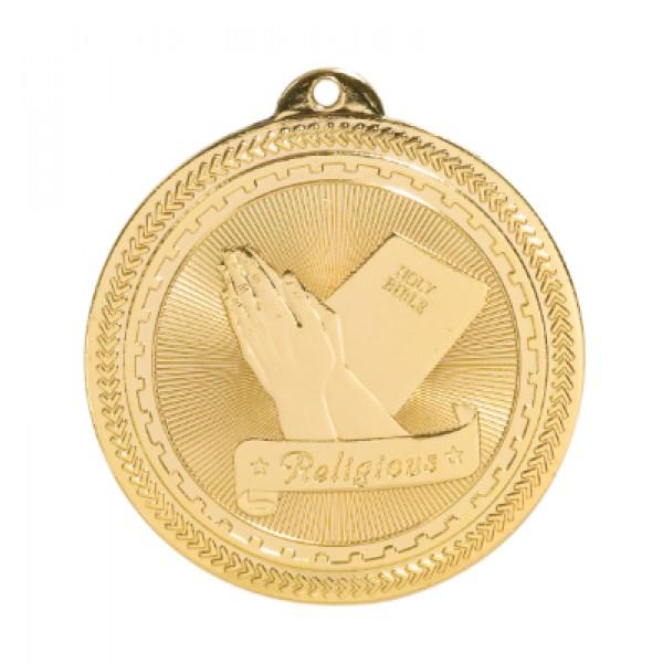 2 inch Christian BriteLazer Medal with Neck Ribbon