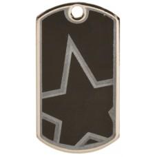 2 inch Black-Silver Star Dog Tag