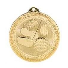 Golf BriteLazer Medal with Neck Ribbon