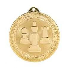 Chess BriteLazer Medal with Neck Ribbon